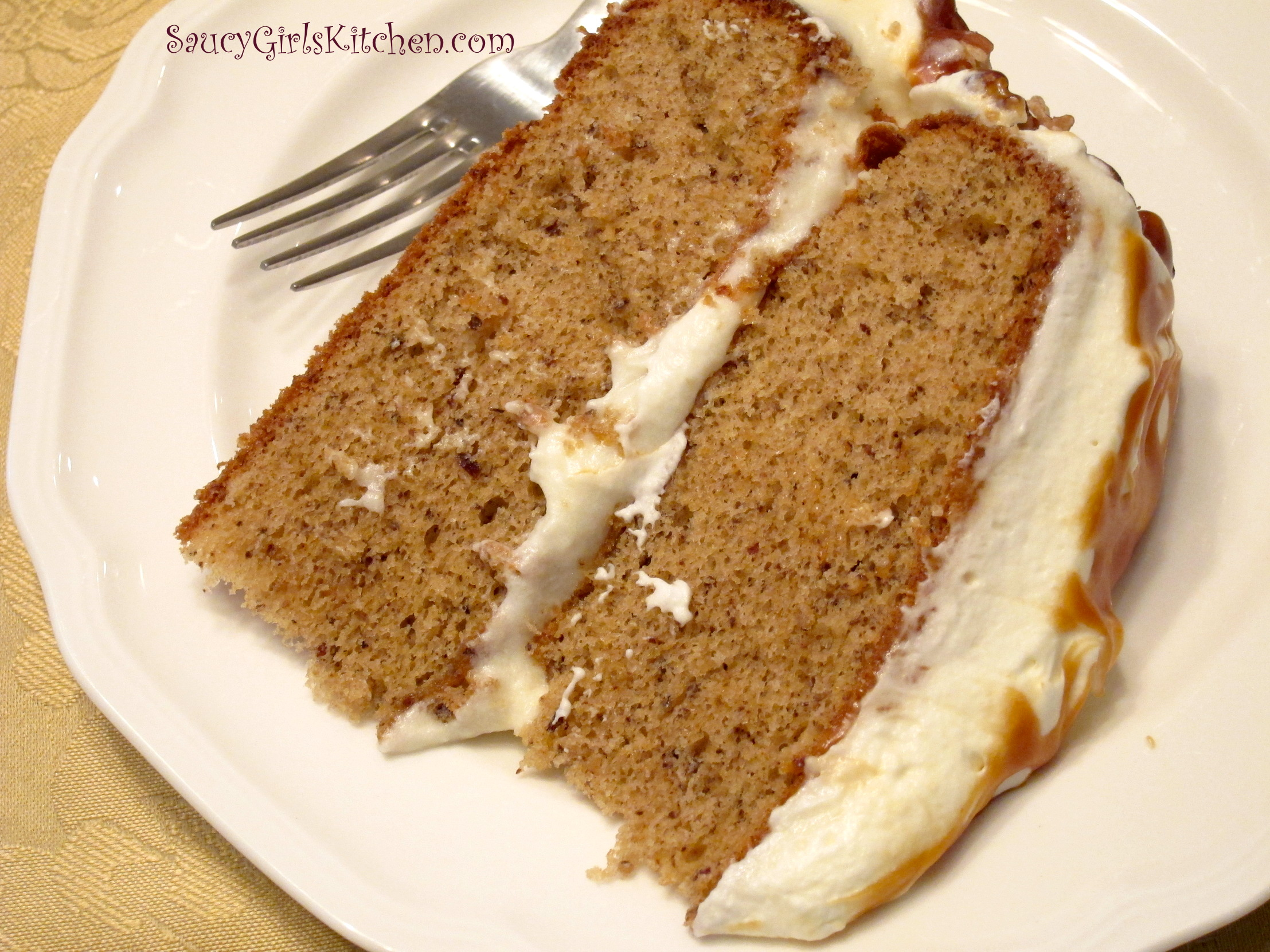 A slice of Butter Pecan Cake